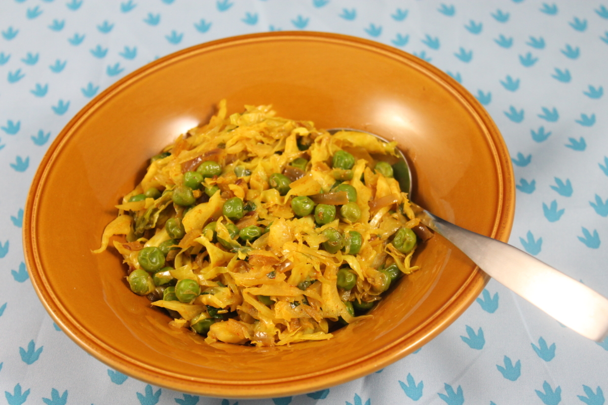 This is an authentic Indian cabbage and peas dry preparation. Usually ...