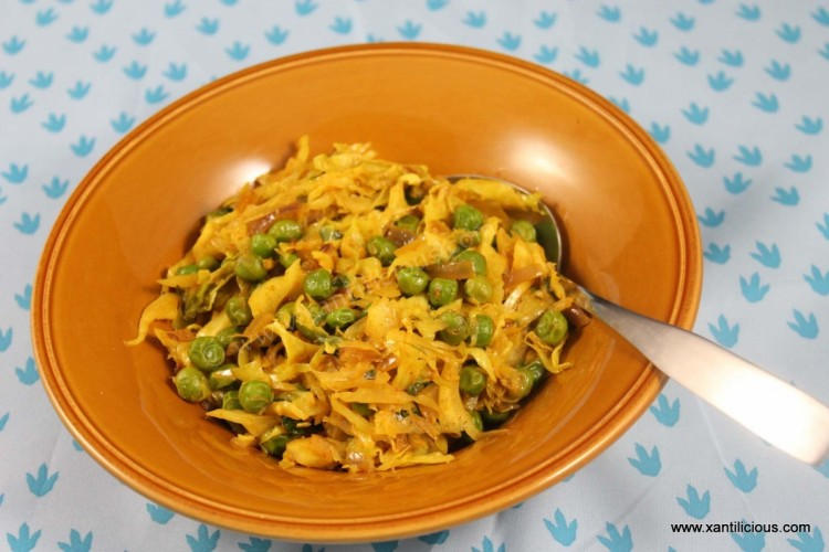 Spicy Cabbage & Peas