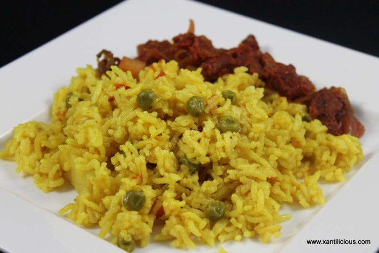 Goan Pulao with Green Peas