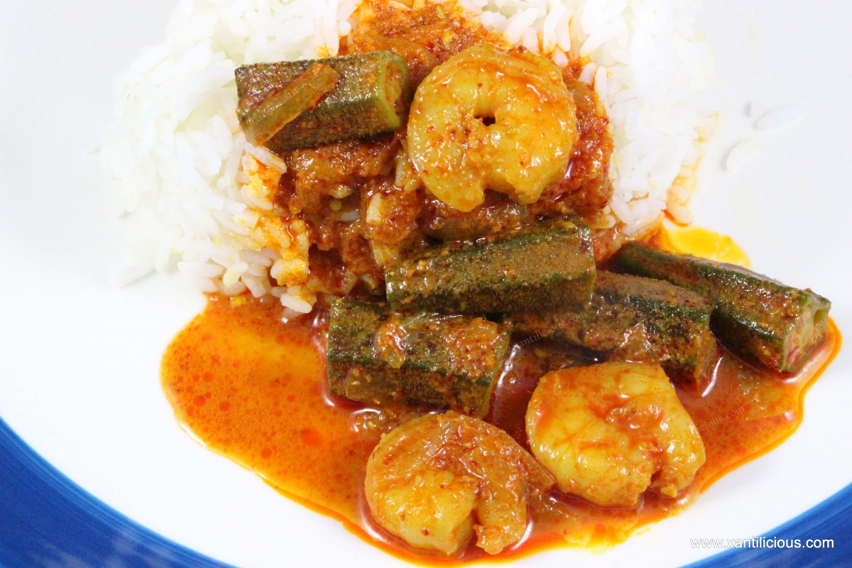 Goan prawn curry with ladyfingers for Fish and rice diet