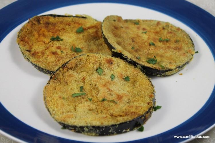 Masala Rava Fried Brinjals (Eggplant)