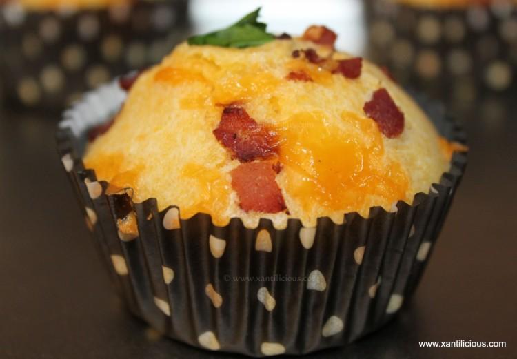 Bacon & Cheddar Corn Muffins