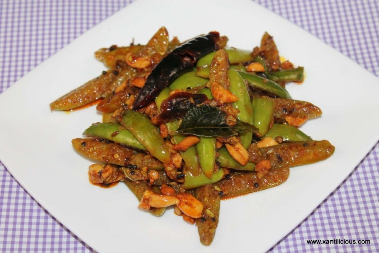 Tindora Fry  with Peanuts (Tendlin / Ivy Gourd Fry)