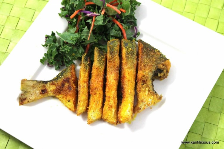 Rava Fried Pomfret Fish