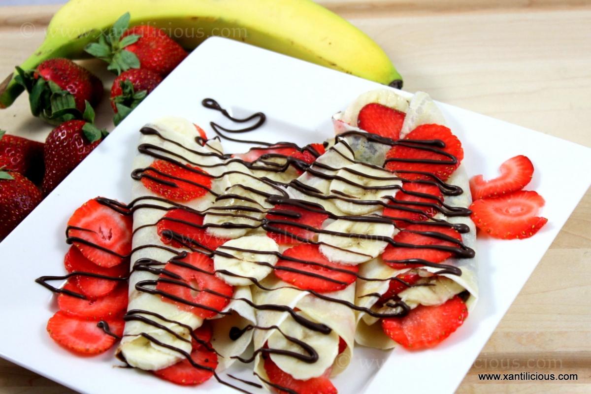 Strawberry & Banana Nutella Pancakes – Xantilicious.com