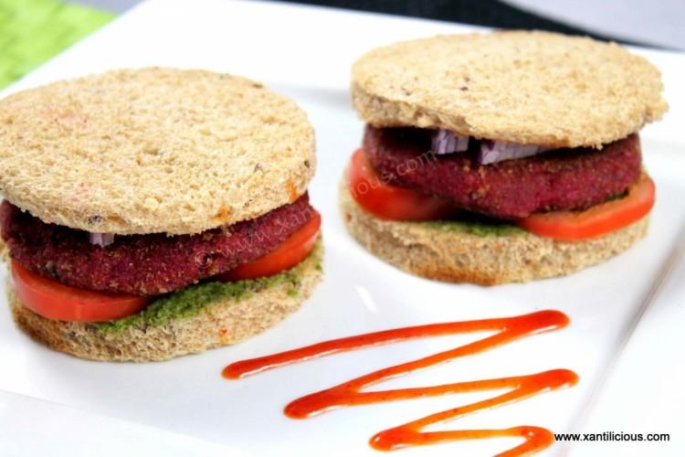 Veg Burger Style Sandwich