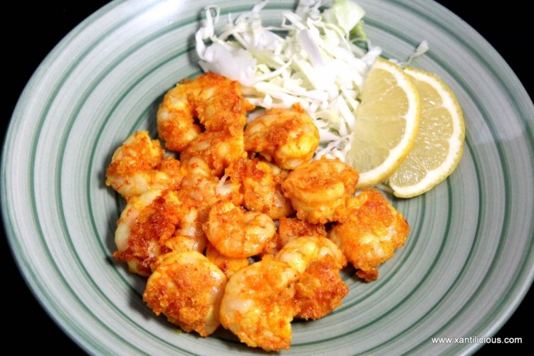 Masala Rava Fried Prawns/Shrimps