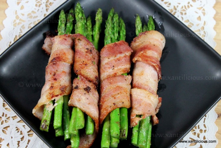 Asparagus Bundles in Bacon