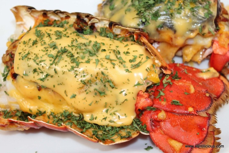 Bacon Stuffed Lobsters with Cheese