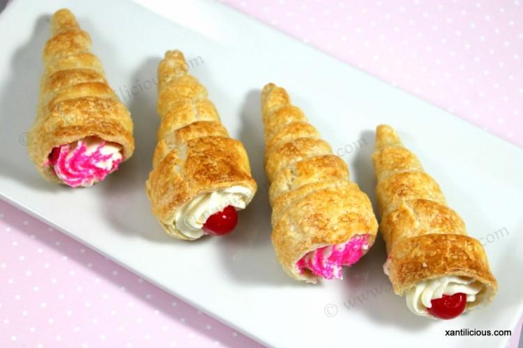 Pastry Cream Cones