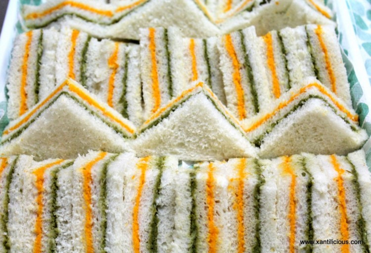 Tricolor sandwiches/Indian Flag Sandwiches