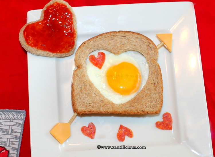 Valentine's Egg Sandwich